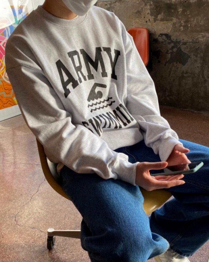 《2色》ARMY SWIMMING トレーナーの画像4