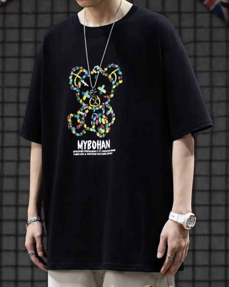 《2色》グラフィカルこてんぱんクマTシャツの画像3