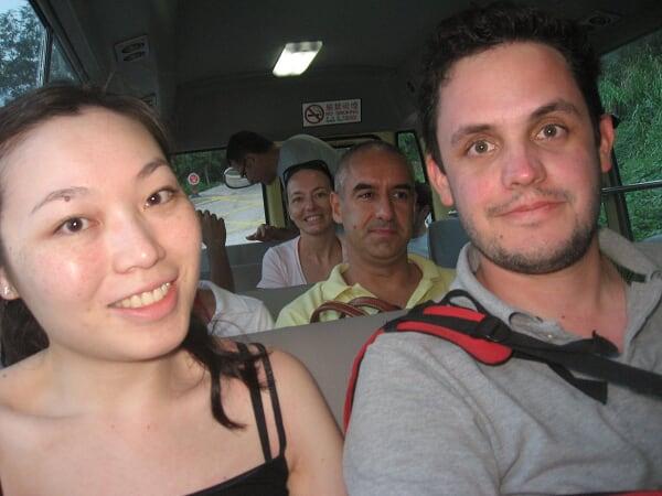 Dans le minibus