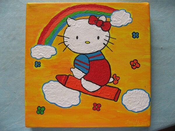 Hello Kitty et l'arc en ciel