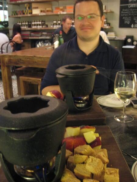 La fondue au fromage...