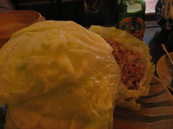 Porc et salade